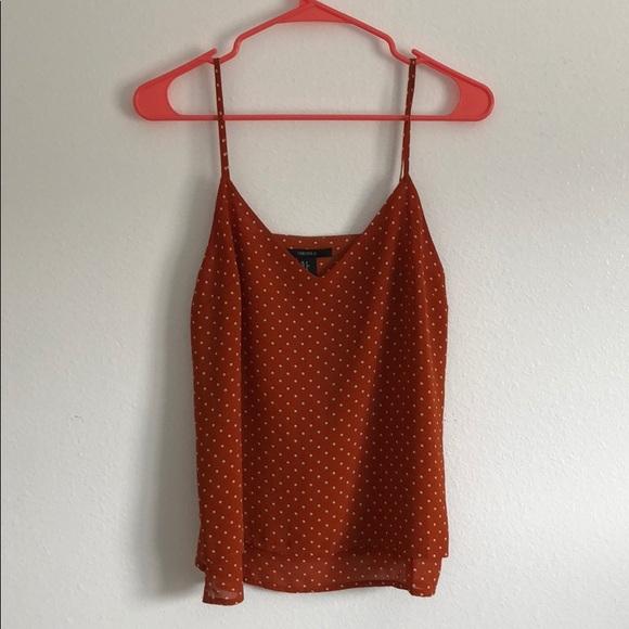 Orange polka dot top(3 for $25)